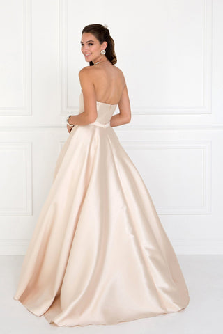 Strapless ball gown evening dress gls 2429-Simply Fab Dress