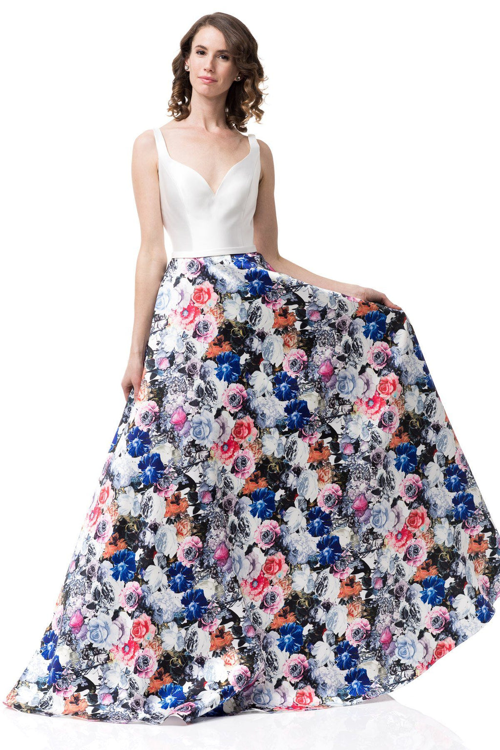 White floral formal dress #GP16320-Simply Fab Dress