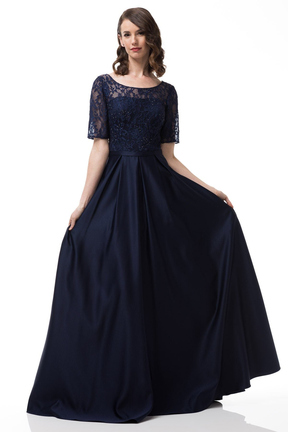 8137a00d00 Plus size evening gown with sleeves  GP17137-Simply Fab Dress ...