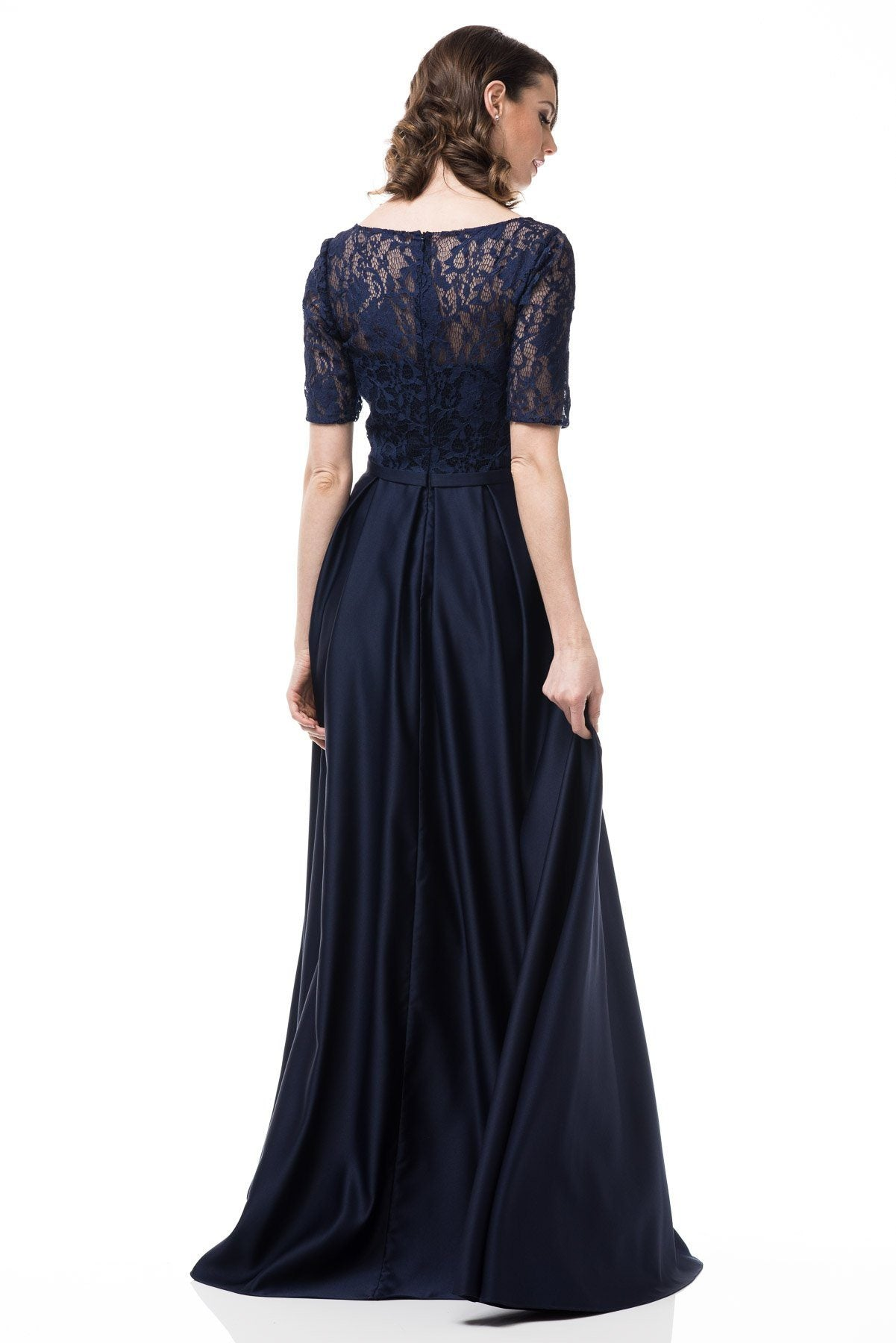 Plus size evening gown with sleeves #GP17137 – Simply Fab Dress
