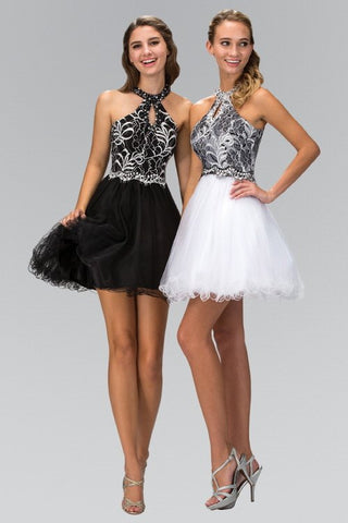 Open Back Lace Bodice Cocktail Dress 103-GS1404 Prom dress - Simply Fab Dress