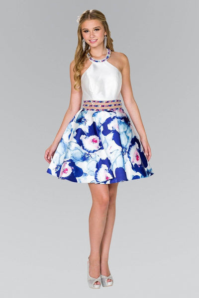 54a256a00 Beautiful floral print short homecoming dress gls #gs2400 - Simply Fab Dress