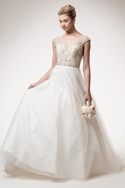 Ivory ball gown wedding dress 106-hcw 017