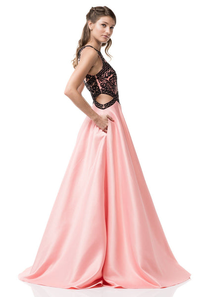 Pink ball gown prom dress BB IQ381 – Simply Fab Dress