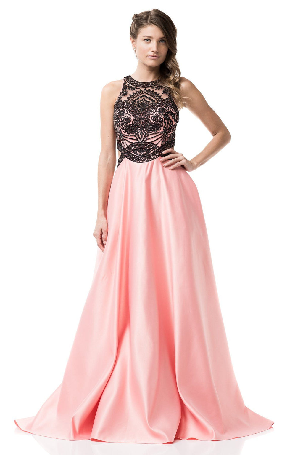 Pink ball gown prom dress 3BB IQ381 - Simply Fab Dress
