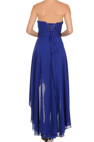 Inexpensive strapless high and low beach bridesmaid dress jul#575 - Simply Fab Dress