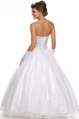 Full beaded bodice strapless ball gown wedding dress jul#312 - Simply Fab Dress