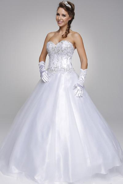 strapless ball gown wedding dress with tulle skirt jul#319 – Simply ...