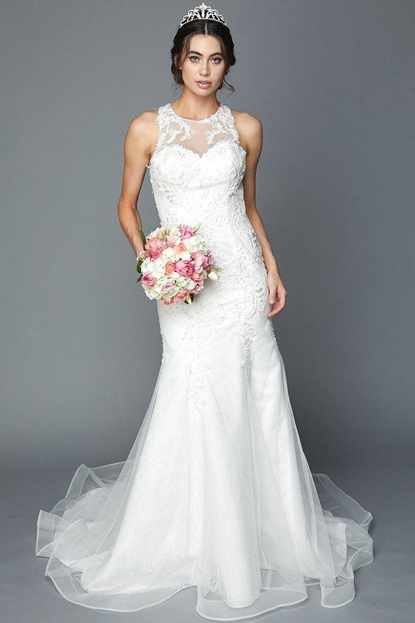 Inexpensive sheer back mermaid wedding dress jul 365 - Simply Fab Dress