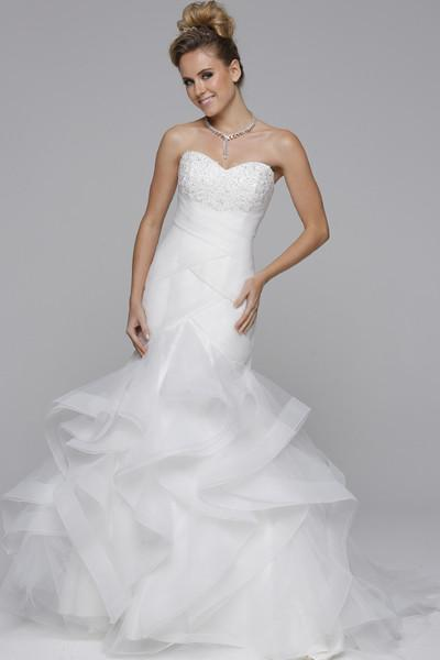Affordable strapless mermaid ruched bodice jul#330 Wedding Dress - Simply Fab Dress