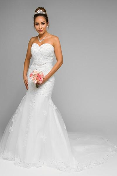 Strapless Inexpensive Mermaid wedding dress jul#344 - Simply Fab Dress