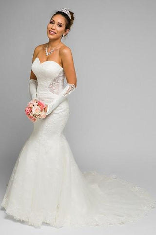 Strapless Mermaid Wedding Dress Jul#356w Affordable wedding dress