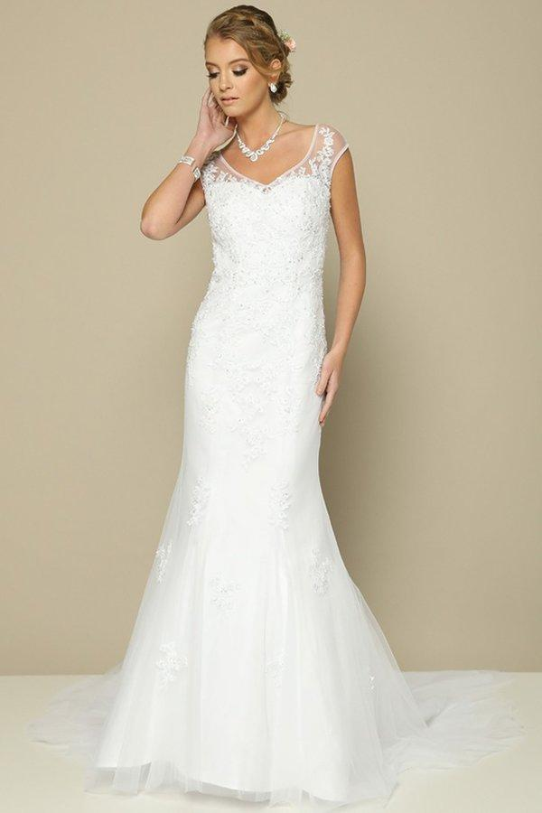 Elegant wedding dress | mermaid gown jul#375-Simply Fab Dress