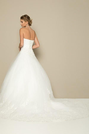 Affordable strapless ball gown wedding dress jul#377w-Simply Fab Dress