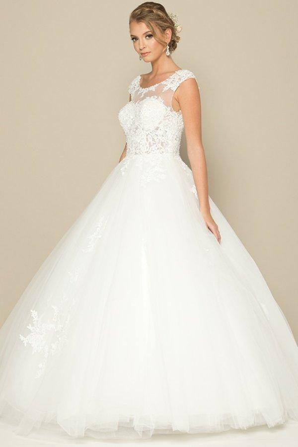 Sexy Lace Ball Gown Wedding Dress Simply Fab Dress