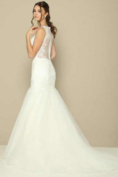 Beautiful trumpet wedding dress jul#388-Simply Fab Dress