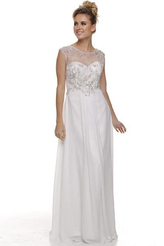 5dca00eadac Sleeveless chiffon beach wedding dress jul 571w - Simply Fab Dress