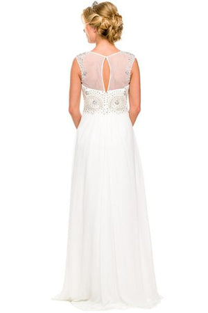 sleeveless chiffon beach wedding dress jul# 589 - Simply Fab Dress