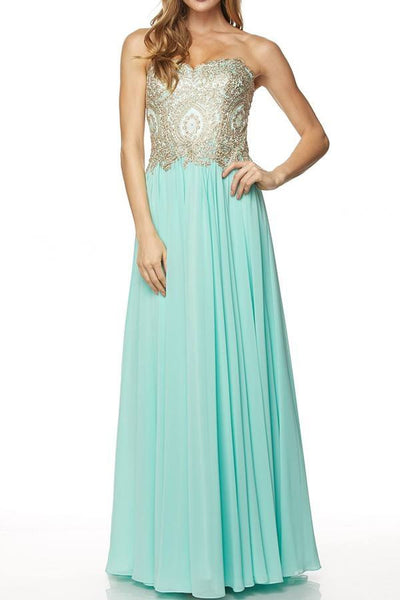 Strapless long bridesmaid dress 105-608 - Simply Fab Dress
