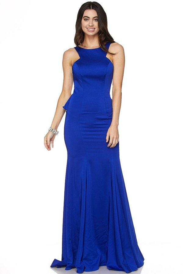 Long formal event dress with backless cut out jul#645 - Simply Fab Dress