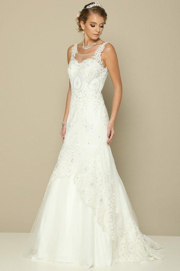 Budget lace wedding dress jul#654-Simply Fab Dress