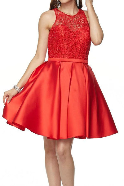 Crystal Beaded Red Homecoming Dress Jul#782 - Simply Fab Dress