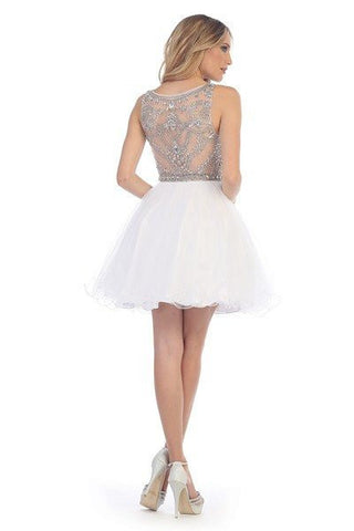 Sexy  Dazzling Beaded Short Prom Dress lets#6043 - Simply Fab Dress