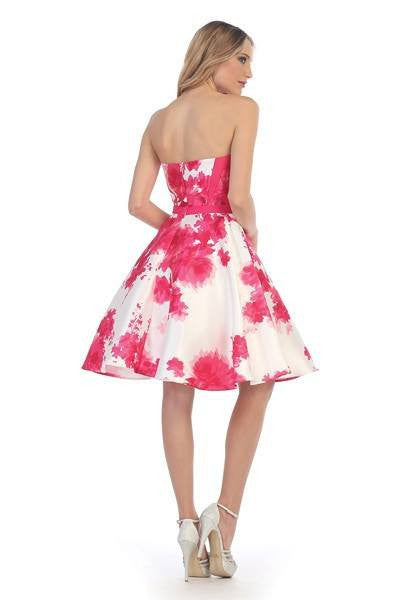 Trendy 2017 Floral Short Prom Dress lets#6055 – Simply Fab Dress