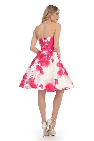 Trendy 2017 Floral Short Prom Dress lets#6055 - Simply Fab Dress