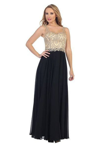 Long chiffon bridesmaid and evening dress 107-7065 - Simply Fab Dress