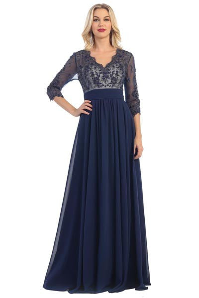 Trendy long sleeve evening dress #mq1212 - Simply Fab Dress