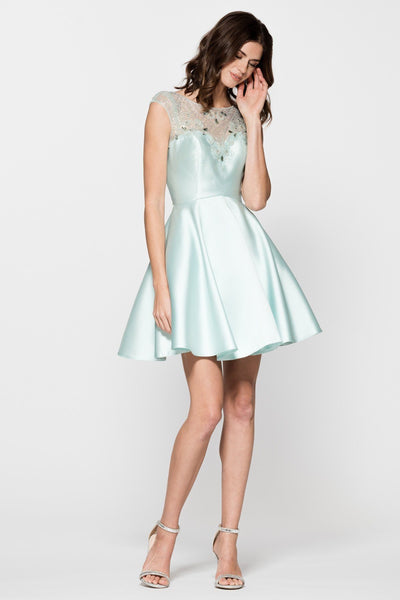 homecoming dress with mikado satin skirt BC#MD16704S-Simply Fab Dress