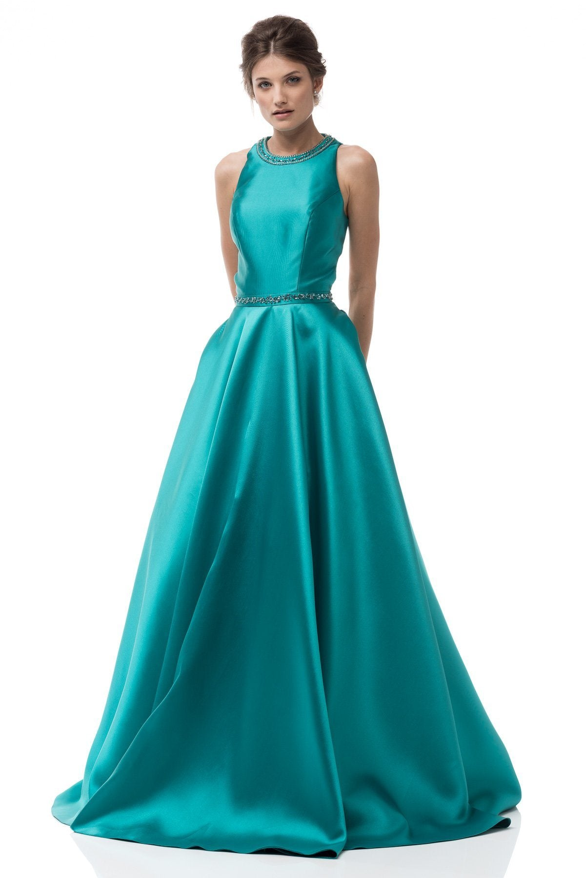 Scoop neckline trendy a-line ball gown formal dress BC# MD2016747 ...