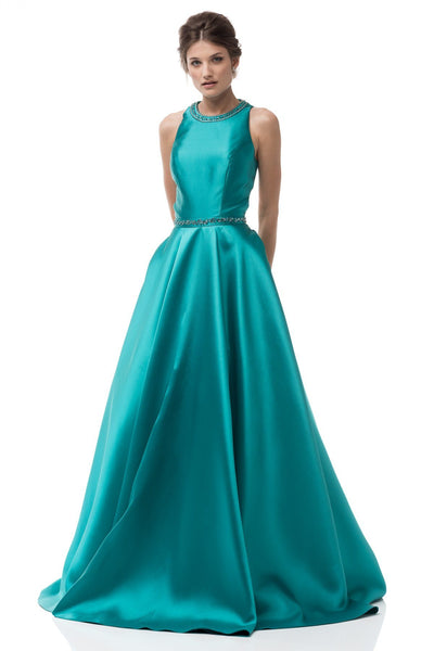 Scoop neckline trendy a-line ball gown formal dress  BC# MD2016747 - Simply Fab Dress