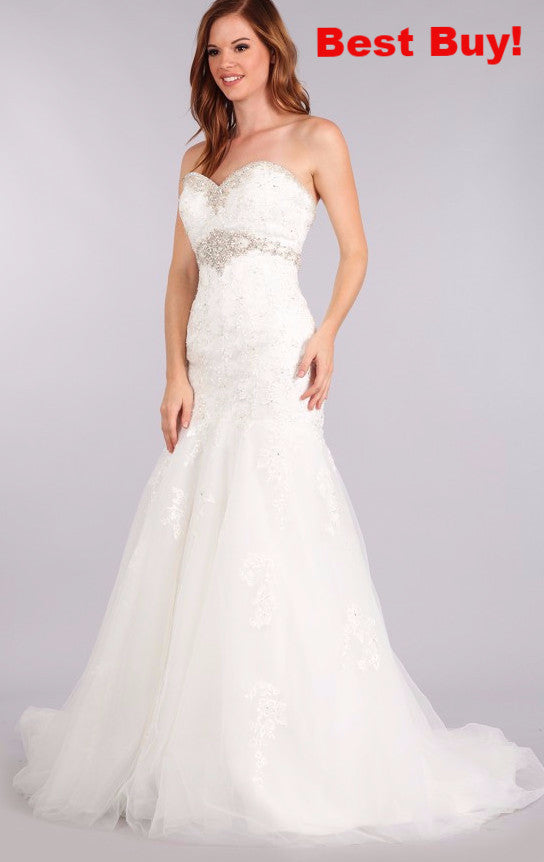 Stunning mermaid wedding dress-mt 210 Affordable wedding dress - Simply Fab Dress