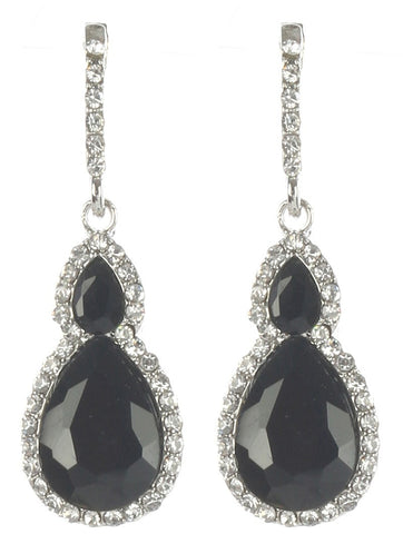 Gorgeous rhinestone fashion earrings  MME24543rdblk - Simply Fab Dress