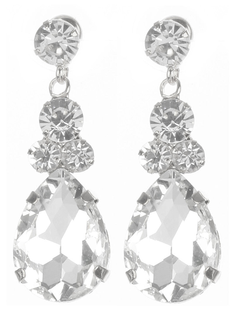 Gorgeous rhinestone fashion earrings  MME24685rdcl - Simply Fab Dress