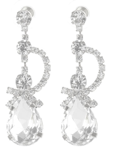 Gorgeous rhinestone fashion earrings  MME24689rdcl - Simply Fab Dress