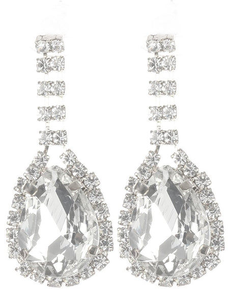Gorgeous rhinestone fashion earrings  MME24690rdcl - Simply Fab Dress