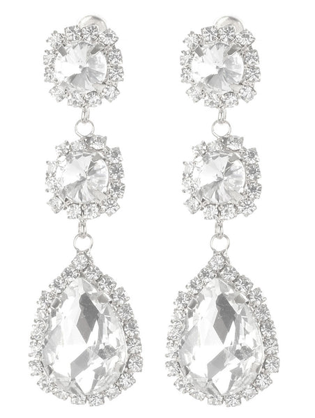 Gorgeous rhinestone fashion earrings  MME24692rdcl - Simply Fab Dress