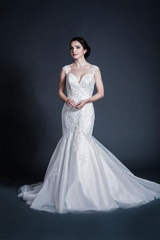 Lace strap mermaid wedding dress MT195 Plus size wedding dress - Simply Fab Dress