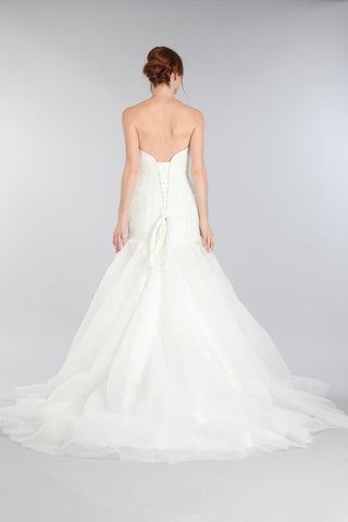 Strapless Sweetheart Neckline Fit n Flare Trumpet Wedding Dress MT 194 - Simply Fab Dress