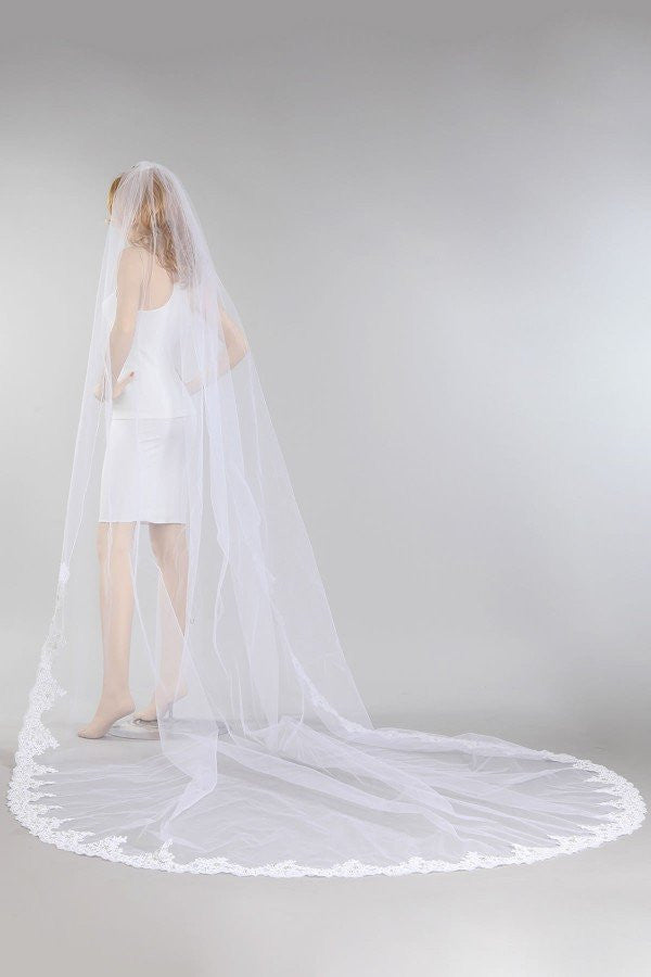 Cathedral train wedding Veil  MV010-120 - Simply Fab Dress