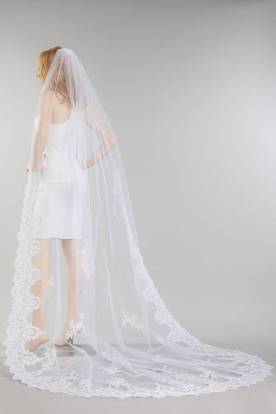 Cathedral train wedding Veil  MV014-120 - Simply Fab Dress