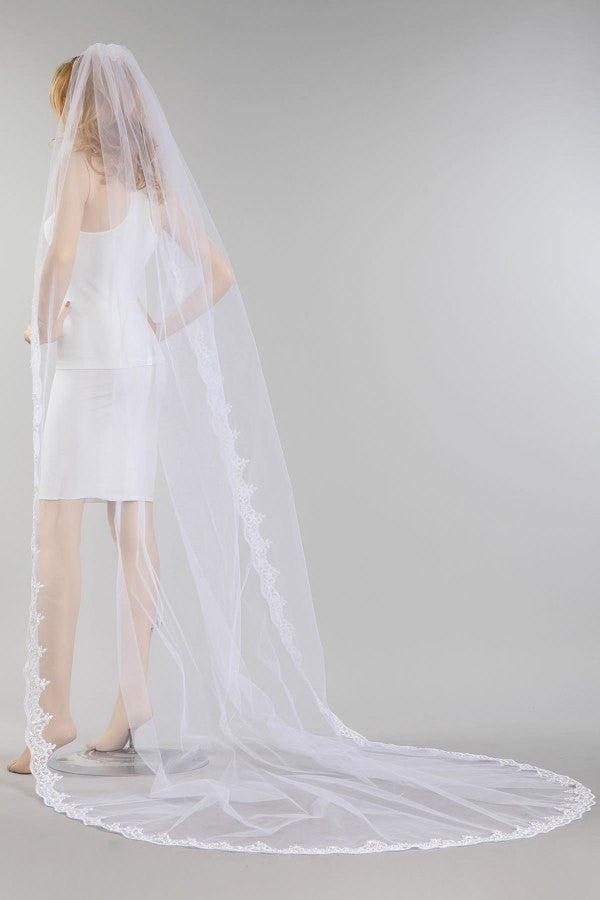 Cathedral train wedding Veil  MV015-120 - Simply Fab Dress