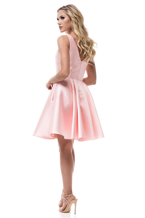 Sleeveless satin homecoming dress BC#MZ3170S-Simply Fab Dress
