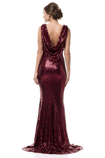 Red Sequin Dress Mz3359 Simply Fab Dress
