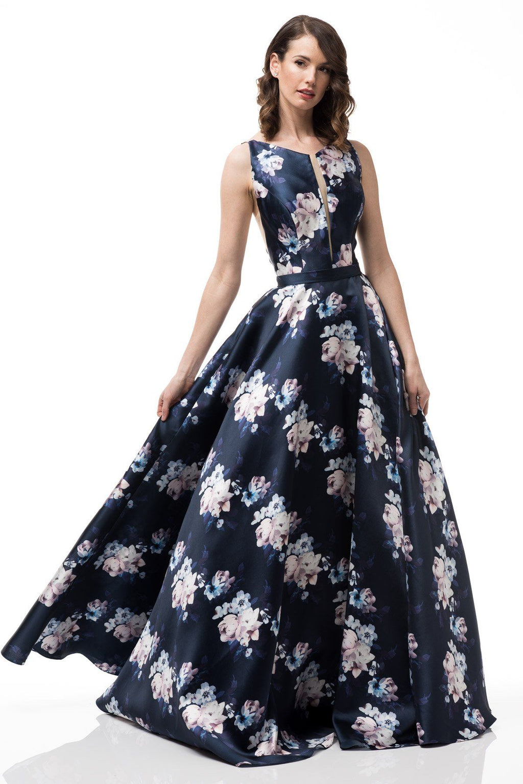 Navy floral dress #MZ3478-Simply Fab Dress