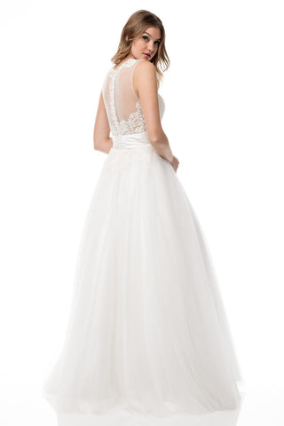 Wedding dresses online simply fab dress lace bodice a line wedding dress with tulle skirt bcmzw2968 simply fab junglespirit Choice Image