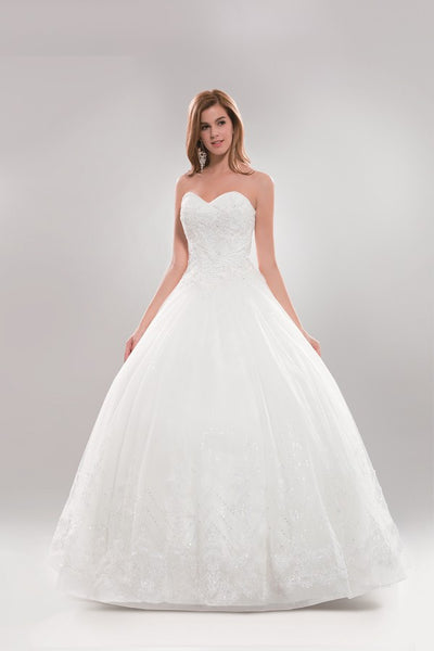 Strapless sweetheart neckline Ball Gown wedding dress #AB6720 - Simply Fab Dress
